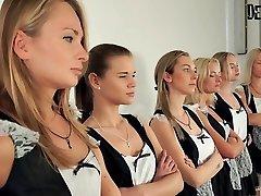 6 dekleta orgija sexfight za najboljši devica