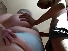 Fat British Mature Sucks DIck
