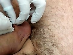 Piercing of the scrotum