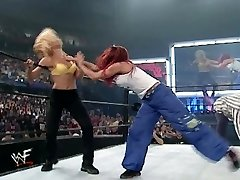 trish and lita vs stacey and torrie grappling divas bra and panties match