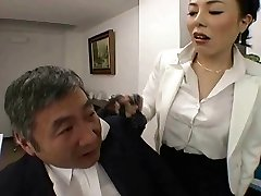 Asian Boss fucks her worker so hard at office - RTS