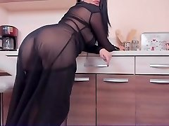 Milf in nylon with ohmibod