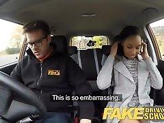 Falsos de Conducción de la Escuela 18yr negro adolescente lleno por su profesor