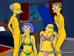 Simpsons hentai hard orgy