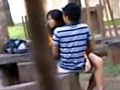 Indiana gli Studenti del College Cazzo nel parco pubblico Voyeur Registrati da persone