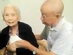 Asiatico, Coppia Di Anziani