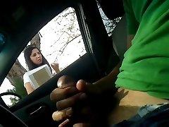 Car Flash Masturbate To Girl Cumshot