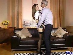 Euro schoolgirl sixtynines oldman after bj
