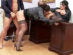 If The Boss Gets Mean, Office Chicks Become Ass istants.