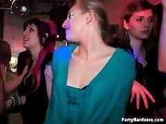 Orgy in a night club