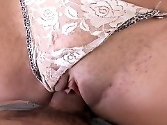 Sexy brunette gets fucked and sucks