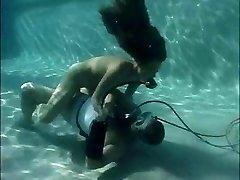 Scuba girl pool care