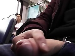 Public dickflash train she watches