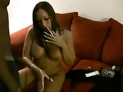 Hot Curvy Latin Babe Smoking and Riding