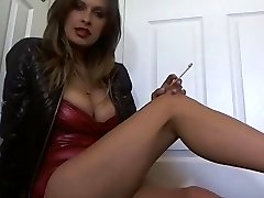 Hot Dirty Talking MILF In Heels Smoking Solo