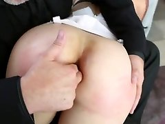 Hot Babe Lays Across Guy's Lap For Ass Finger and Fuck