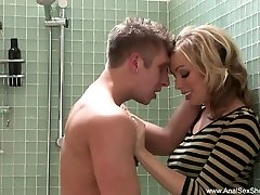 Double Penetration Anal Blonde In Bathroom