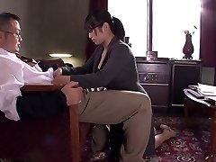Office slut sucks and titty fucks guy's pole at work