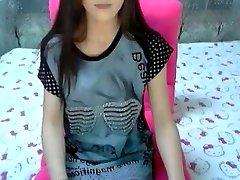 Pazzo amatoriale filmato con un magro, tette piccole, college, striscia, assolo, webcam scene