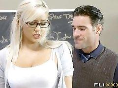 Beautiful Blonde Teen School Girl