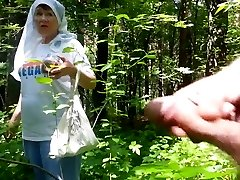 good grandma in the woods
