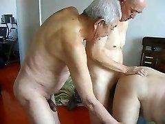2 grandpas fuck grandfather