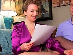 Stringent Milf checks if her boy has been studying