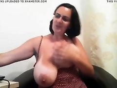 milf with big ass tits on web cam
