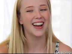 The Cutest Blonde Teen Bitch Interview Fuck