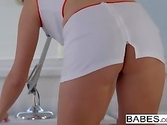 Elegant Anal -  Crazy nurse Nikky Desire takes it in her ass