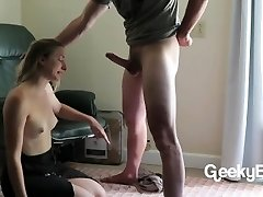 Sucking His Man-meat, Struggling With His Load