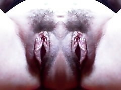 Monster vagina: big double hairy poon and incredible good-sized labia