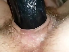 MasturbationBlack dildo for fuckbox
