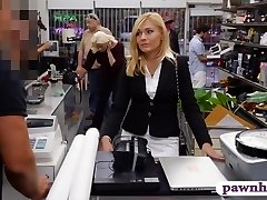Torrid blondie milf pounded at the pawnhop to earn extra money