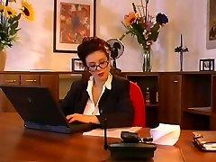 Humungous tits secretary fucking her boss