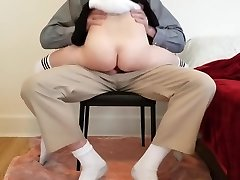 Youthfull schoolgirl learns deep lesson while getting tutored at home.