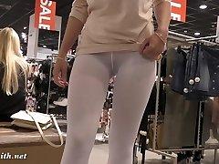 Жени Smith - bijele hulahopke skrivenu kameru