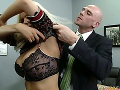 Naughty lecturer Diamond Foxxx is disciplined by school principle
