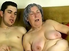 OmaPass Young boy fuck very aged granny with her girlfriend