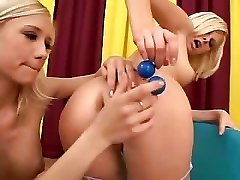 Lesbos Play With Huge Toys
