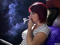 Sexy smoking model