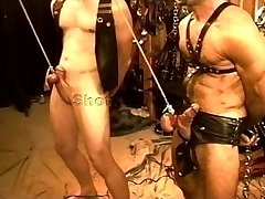 Five man sensual CBT, BDSM orgy featuring hunks and teddies. pt 1