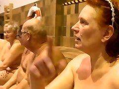 Nudists Swimming in Danish TV-Demonstrate