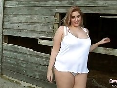Big-titted Raphaella Farm Frolics