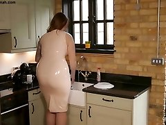 Taboo Step Paige Turnah Mum in Latex Teases Step Sonny