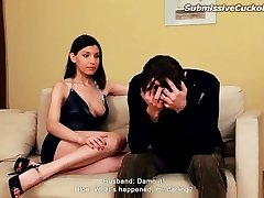 Hot wife pulverized in front of husband