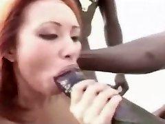 Huge Dark-hued Cock, all over a blonde.