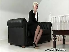 Mature lady shows her super-naughty lingerie