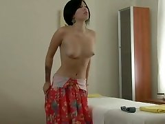 Short Haired Beauty - Strip & Massage Have Fun