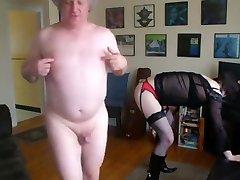 21 year elderly crossdresser obeying daddy